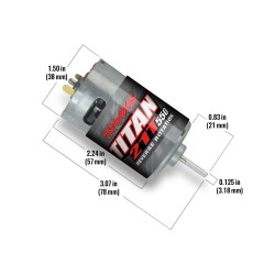 Motor, Titan 550, reverse rotation (21-t/ 14 v) (TRX-4)