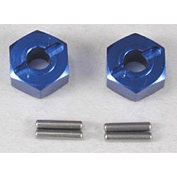 Wheel hubs, hex (2)/ axle pins(2)
