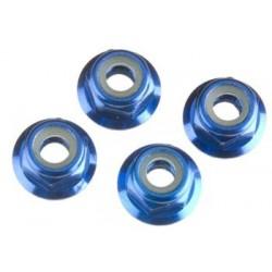 Nuts 4mm Flanged Nylon Locking (4)