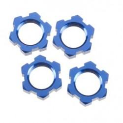 Porcas de roda, splined, 17mm (azul-anodizado) (4)