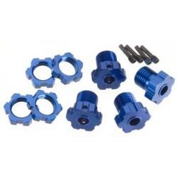 Hexagonos de roda, splined, 17mm (azul-anodizado)