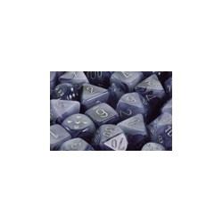 Phantom 12mm d6 Black/silver Dice Block (36 dados)