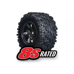 Tires & wheels, X-Maxx black wheels 8S