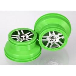 6872X - Wheels SCT Split-Spoke Chrome Green Beadlock