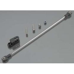 5741 BK Rudder pushrod, assembled/ servo horn/ 3x18mm BCS (sta