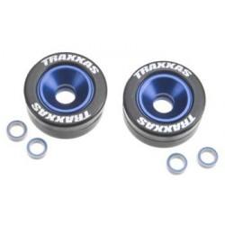 5186A D6 - Mounted Wheelie Bar Tires/Wheels Blue